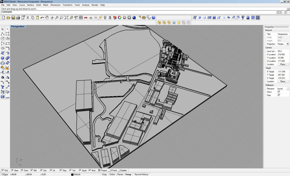 Rhino Reference-Model of Site to be CNCMachined