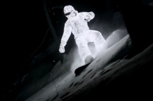 LED Clad Snowboarder - William Hughes