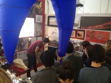 AA Inter 3 Unit space presentation to visiting students by Berkin